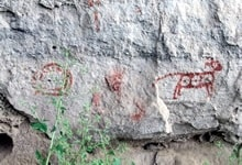 Mimbres Pictographs, Native American Culture, Geronimo Trail Guest Ranch