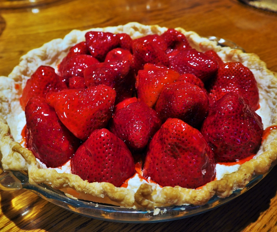 Strawberry pie on Geronimo Trail Guest Ranch.