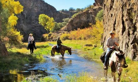 October at Geronimo Trail Guest Ranch.