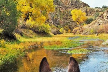 Horseback Riding in October at Geronimo Trail Guest Ranch