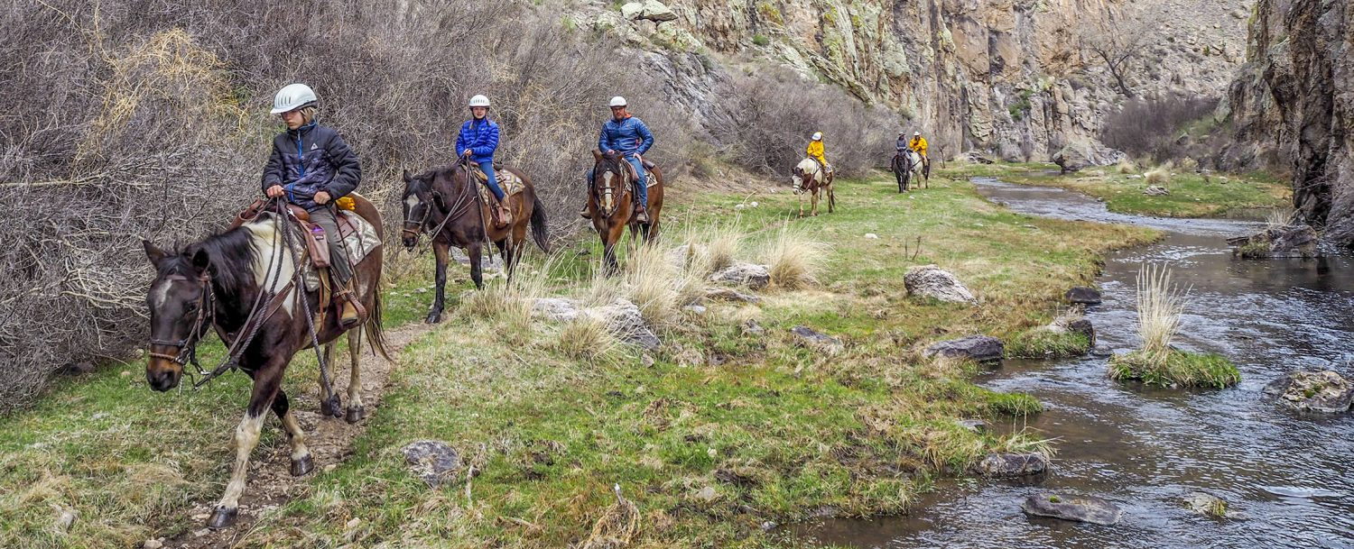 Beginner Riders at Geronimo Trail Guest Ranch, New Mexico