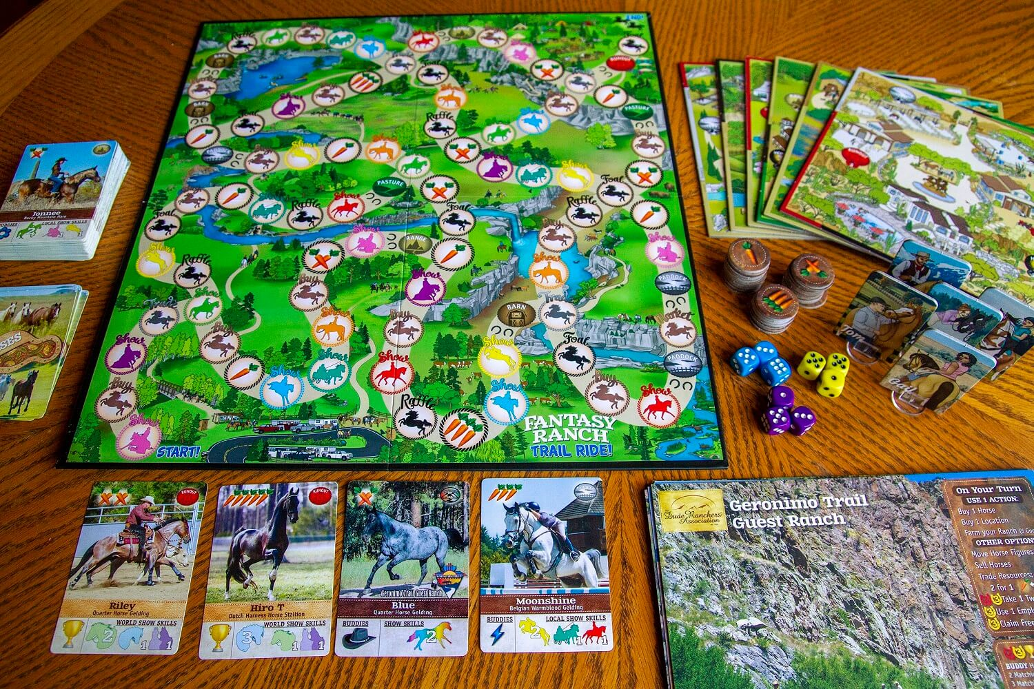 Fantasy Ranch Board Game Board