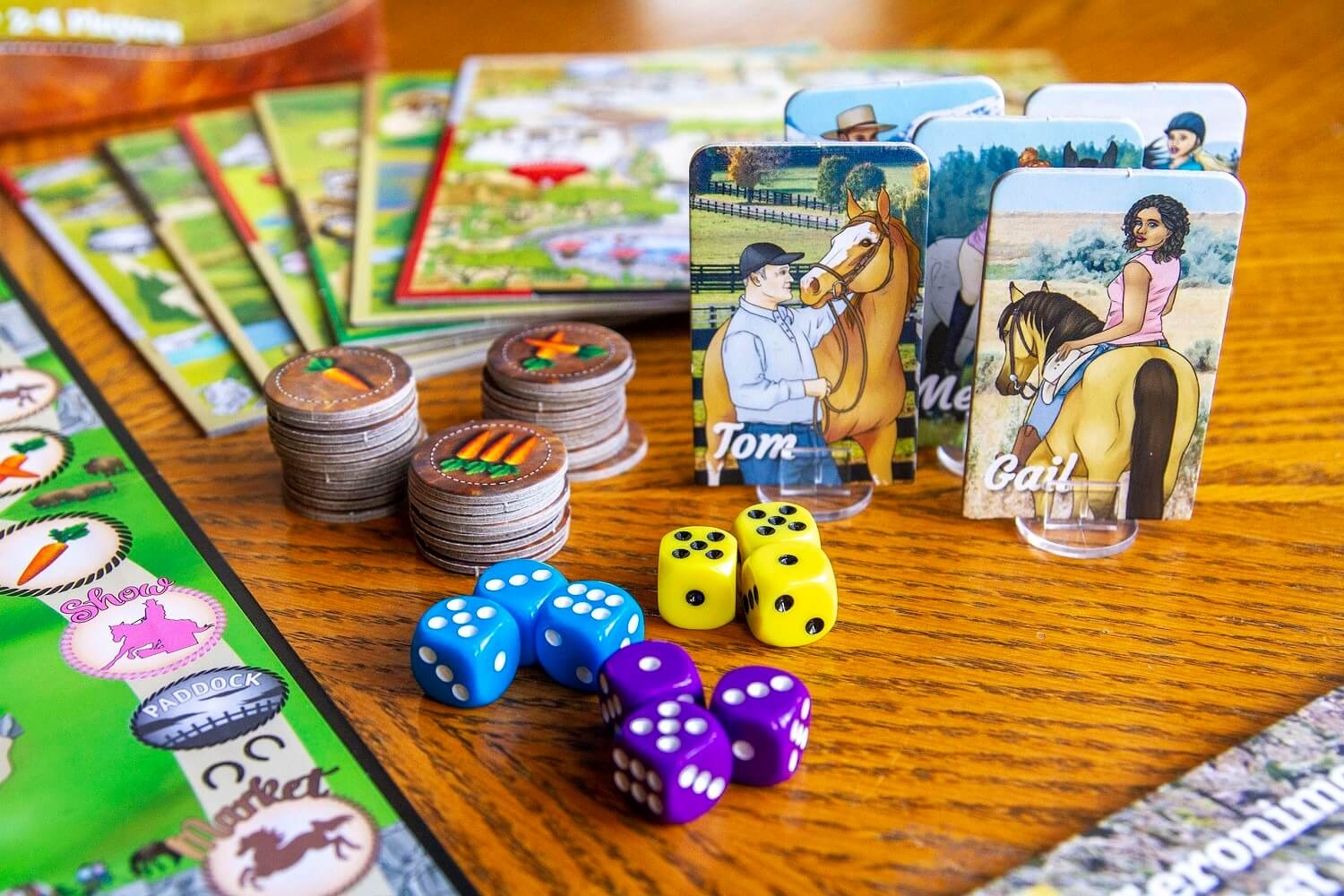 Fantasy Ranch Board Game pieces