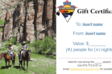 Geronimo Trail Guest Ranch Gift Certificate