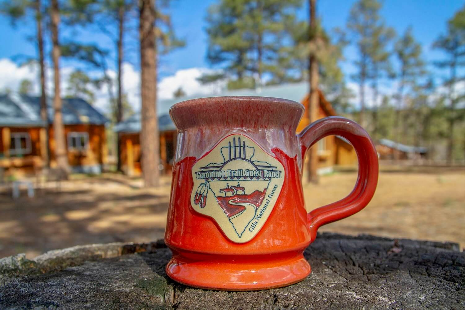 Geronimo Trail Guest Ranch Mug - Orange
