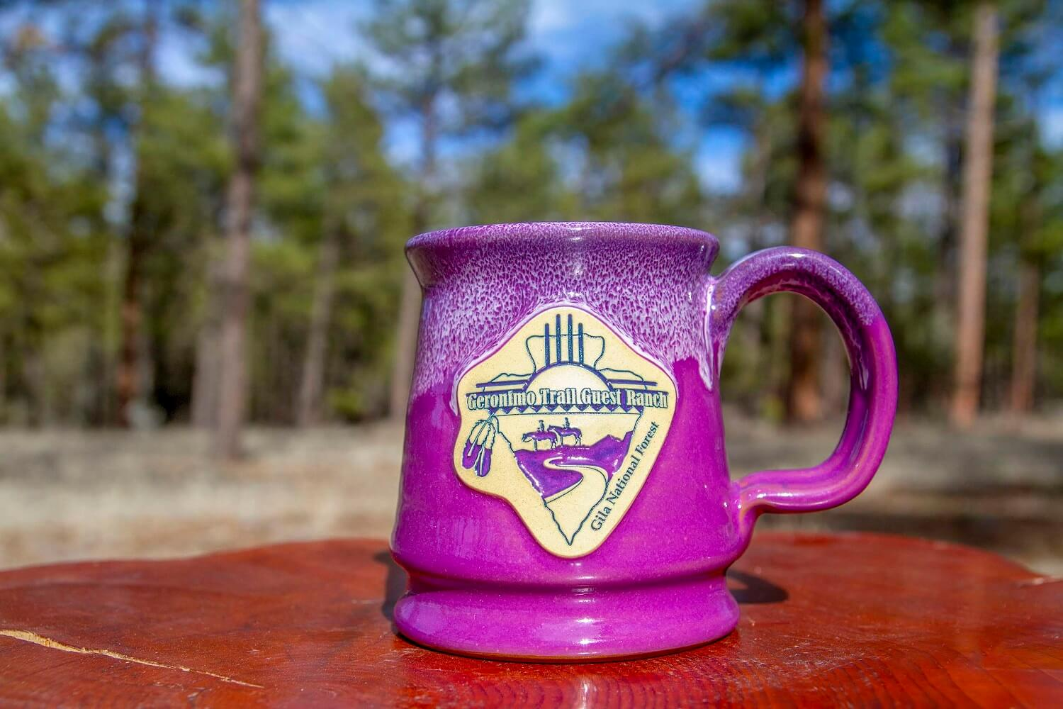 Geronimo Trail Guest Ranch Mug - Purple