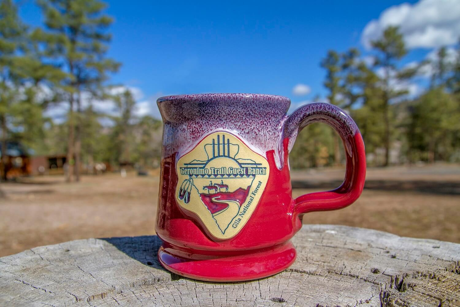 Geronimo Trail Guest Ranch Mug - Red