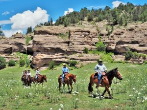 August Horseback Riding at Geronimo Trail Guest Ranch, New Mexico