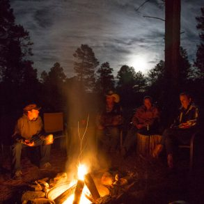 campfire at geronimo trail guest ranch