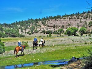 June Horseback Riding at Geronimo Trail Guest Ranch, New Mexico