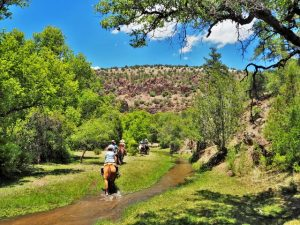 May Trail Riding at Geronimo Trail Guest Ranch, New Mexico