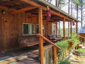 Apache and Mimbres Cabins with Porch Swings