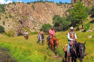 Horseback Riding in the Gila National Forest at Geronimo Trail Guest Ranch, New Mexico